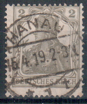 Briefmarke Deutsches Reich Germania Mi. Nr. 102 o