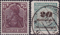 Briefmarken Deutsches Reich Germania 1916-1923 Inflation!